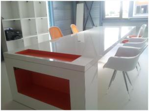 Design Bureau Hoogglans Wit.Ma2 Bureau